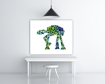 Star Wars AT-AT Walker Empire Strikes Back Star Wars Room Decor Teen Gift For Her, Leopard Print Gifts For Friends, Movie Lover Gifts