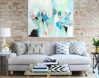 Blue Abstract Art Print, Giclee Print,  Abstract Painting, Modern Art , Fine Art Print, Contemporary Art, Abstract Landscape, Wall Decor
