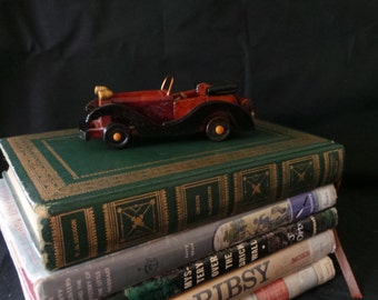 CLEARANCE Vintage Wood Toy Convertible Car