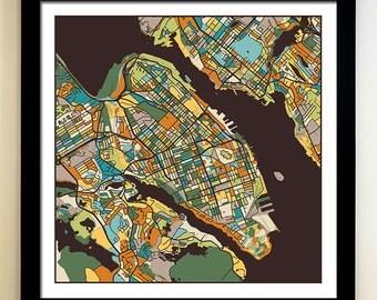 HALIFAX Map Art Print, Giclée Print, Halifax Wall Art