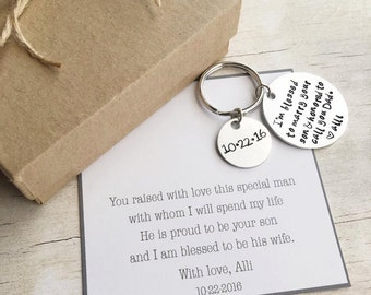 Father of the Groom Gift - Gift from Bride - Father of the Groom - Personalized Keychain