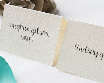 Wedding Place Cards & Escort Cards | Wedding Calligraphy | Special Events | Black Ink, Gold Ink, or Custom Color