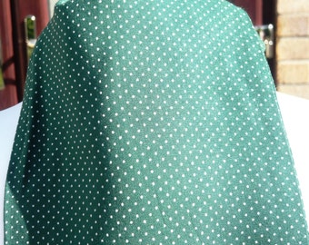 "1960's ""A Favourite"" Green with White Polka Dot Cravat"