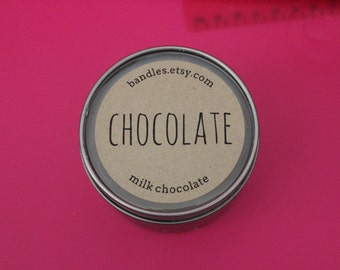 Easter Chocolate Scented Soy Wax 6oz Travel Tin Candle
