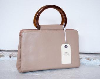 Vintage 'Maid Marion' Tan Leather Handbag