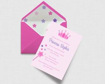 "Princess Birthday Party 5"" x 7"" Invitation - Digital or Printed"