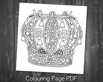 Tribal Coloring Page Printable Adult