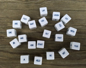 Sentence Word Cubes, Word Cubes, Plastic Word Cubes,  Set of 21