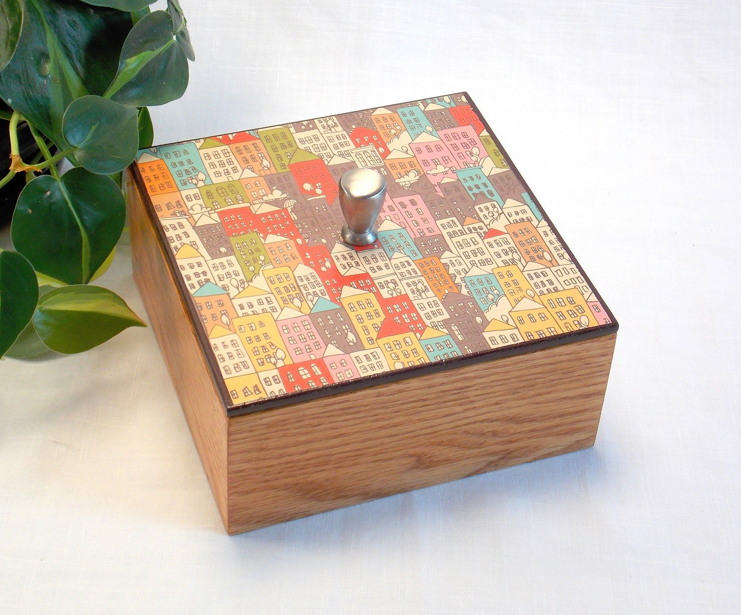 Decorative Box Lid : Wood box with lid coffee table ottoman decor boxes