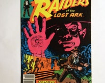 Raiders of the Lost Ark (Grade NM) 1981 Complete Three Issue Comic Book Set, Original Indiana Jones Comic,Vintage Raiders of the Lost Ark