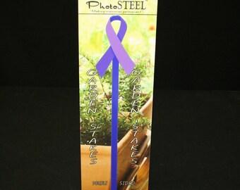 Pot Stake Violet Ribbon