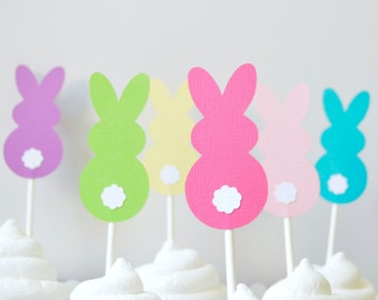 Easter Cupcake Toppers Bunny By the Dozen 12