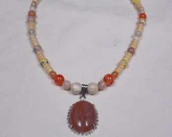 Hand made one of a kind Necklace w/ Jasper