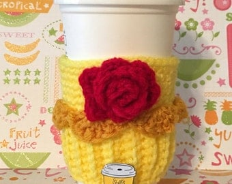 Beauty & the Beast's Belle Cupcake Coffee Cozy