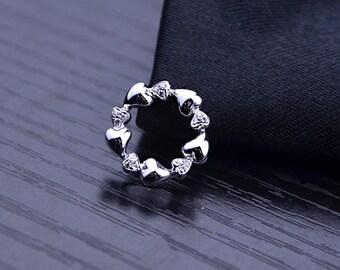 Haerts 18k White Gold Diamond Pendant Charm Wedding Birthday Valentine's Mother's Day