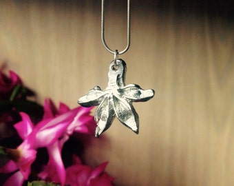 Pewter star anise pendant