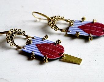 Brass Earrings - Brass Beads - Brass Jewelry - Earrings Brass - handmade earrings - Unique earrings - Jewelry Brass - Boho Brass