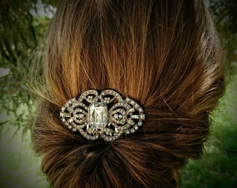 Wedding Headpiece Crystal Rhinestone Hair Comb Silver Hair Comb Vintage Style Wedding Hair Piece Bridal Hair