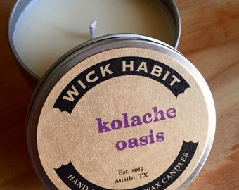 Kolache Oasis Soy Candle // Sweet Buttery Bread