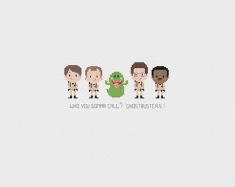 Ghostbusters Cross stitch - Who you gonna call - PDF Instant Download - Cross stitch pattern