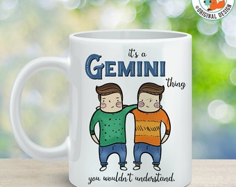 Coffee Mug Gemini Astrological Sign Coffee Cup - Great Birthday Gift - Horoscope Mug