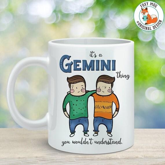 Coffee Mug Gemini Astrological Sign Coffee Cup - Great Birthday Gift - Horoscope Mug