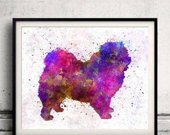 Chow-Chow 01 in watercolor 8x10 in. to 12x16 in. Fine Art Print Glicee Poster Decor Home Watercolor Illustration - SKU 1026