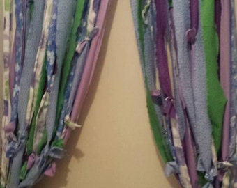 Boho Rag Curtains With Beads, Hippie Style Curtains, Beaded Curtains, Bohemian Style Curtains, Boho Curtains, Hippie Curtains