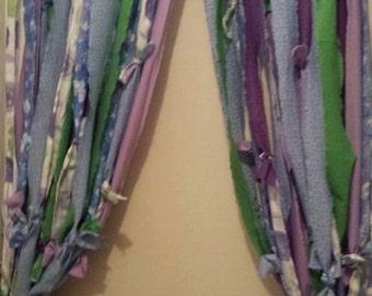 Boho Rag Curtains With Beads Hippie Style Beaded Bohemian