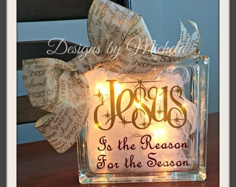 Jesus is the Reason for the Season Christmas Light Ornament, GF018