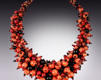 Dramatic Red Necklace/Gift