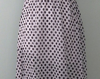 Polka dot Black and white 1980's 'Style' Dress