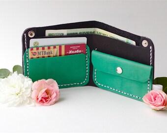 Leather wallet, Simple wallet, Minimal wallet, Handmade wallet, Money clip, Leather money clip, Wallet case, Money clip wallet, Woman wallet