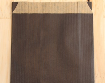 Lot of 25 pouches kraft 12 x 19 cm black, Pack gifts
