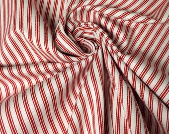 """Cotton Ticking Fabric - 54"""" wide - Woven by the yard"""