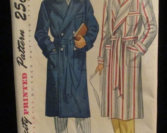 Vintage 1940's Men's Robe Pattern