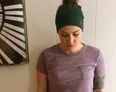 HUNTER GREEN Yoga, running, hiking, crossfit headband