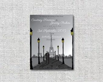Paris Wedding invitation package that can is DIY printable