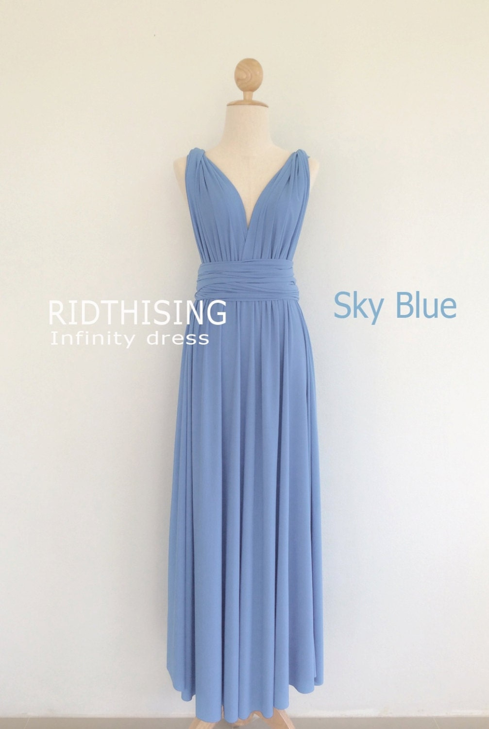 Maxi sky blue infinity dress bridesmaid dress prom dress zoom ombrellifo Images