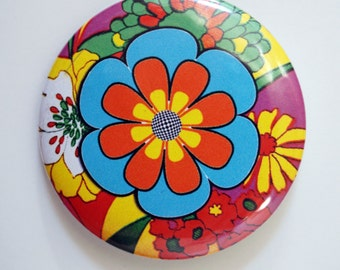 Groovy mod flower power button pin