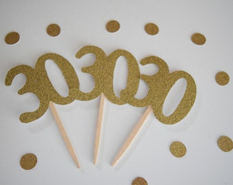30th Birthday Cupcake Toppers, Dirty 30, 30th Birthday, Glitter Cupcake Toppers, Set of 12