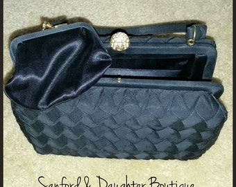 Intricately Designed Black Pocketbook