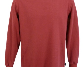 Polo Neck shirt, light burgundy, made in England.   J703