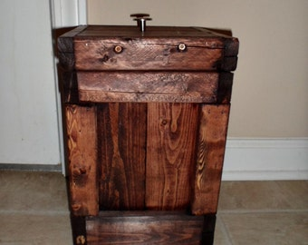 how to build a rustic trash can holder