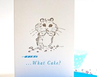 Letterpress Birthday Card Hamster