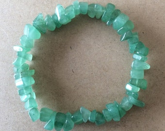 Aventurine Chip Bead Bracelet - includes complimentary gift pouch