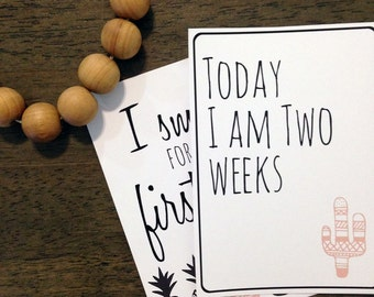 Mexican Baby Milestone Card Collection - Digital File