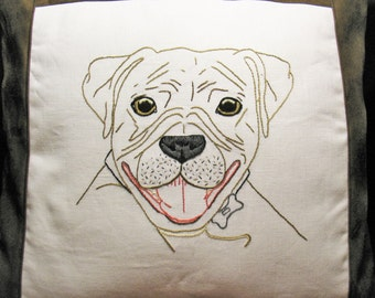 Personalized Pet Pillow, Personalized Boxer, Personalized Dog Pillow, Custom Dog Pillow, Custom Pet Portrait Pillow, Pet Portrait Pillow