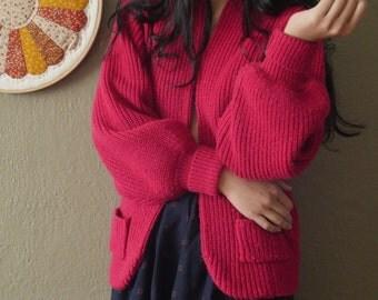 Maraschino Cherry Red Cardigan