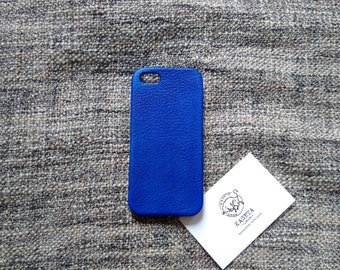 iPhone SE 5s leather case 'NavyBlue'